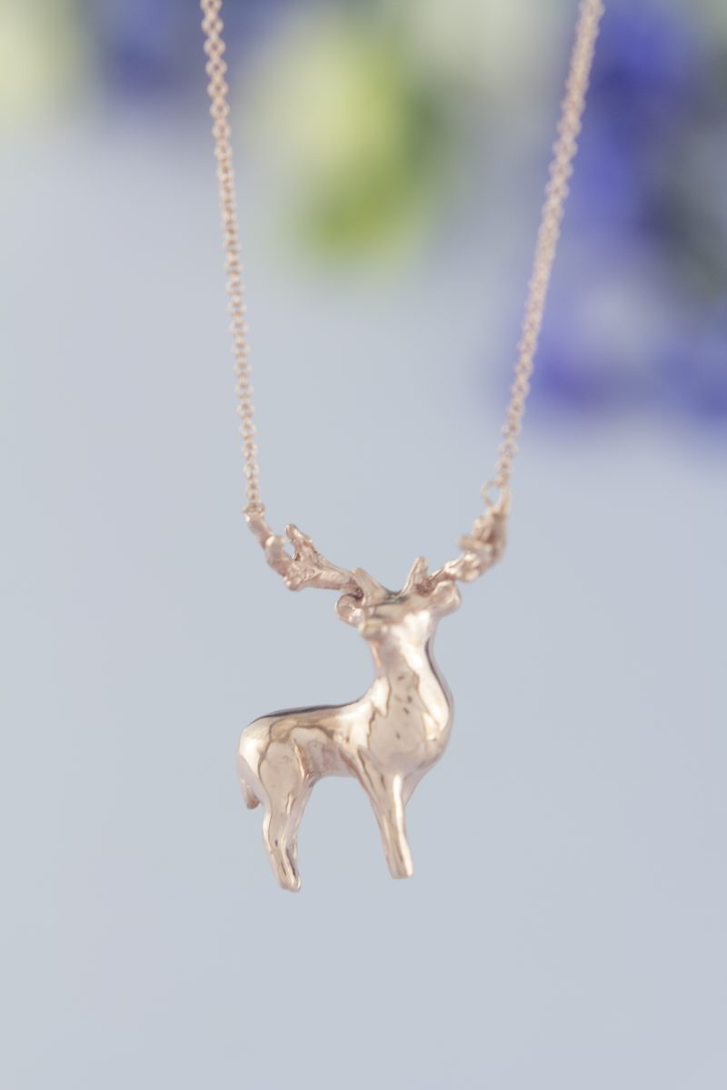 silver sterling necklace p thailand from novica geometric pendant deer
